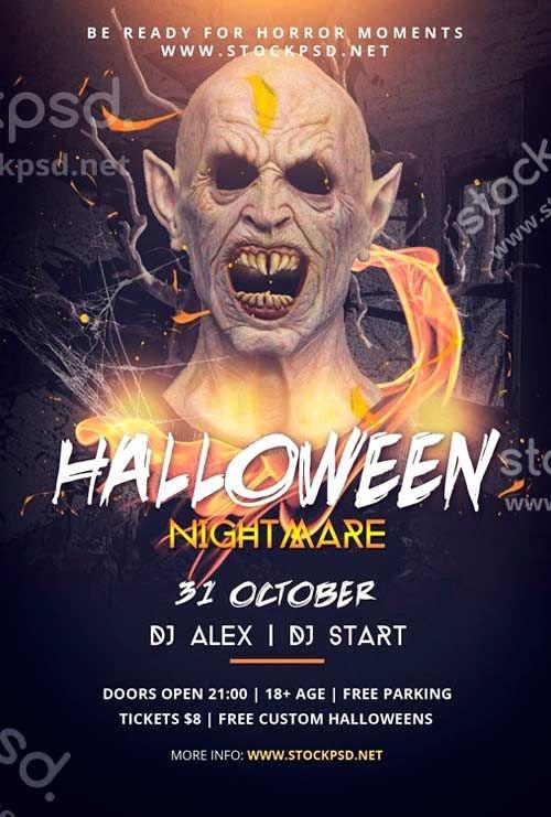 Halloween Flyer Template Free Best Of Halloween Nightmare Free Psd Flyer Template