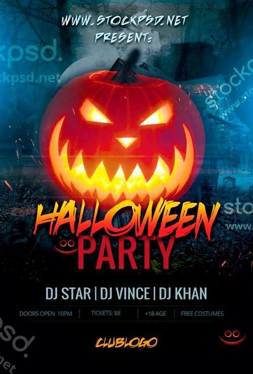 Halloween Flyer Template Free Elegant 20 Free Halloween Flyers Psd Templates