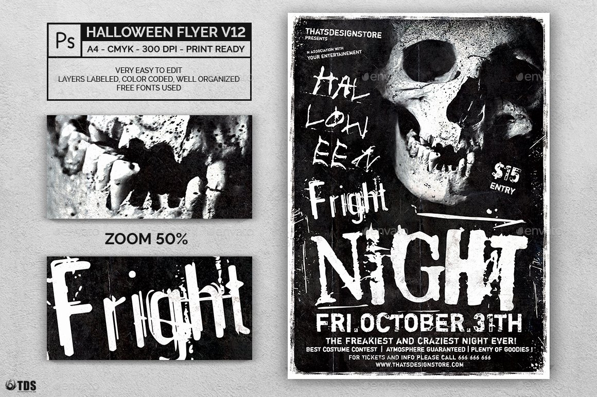 Halloween Flyer Template Free Elegant Halloween Flyer Template V12 by Lou606
