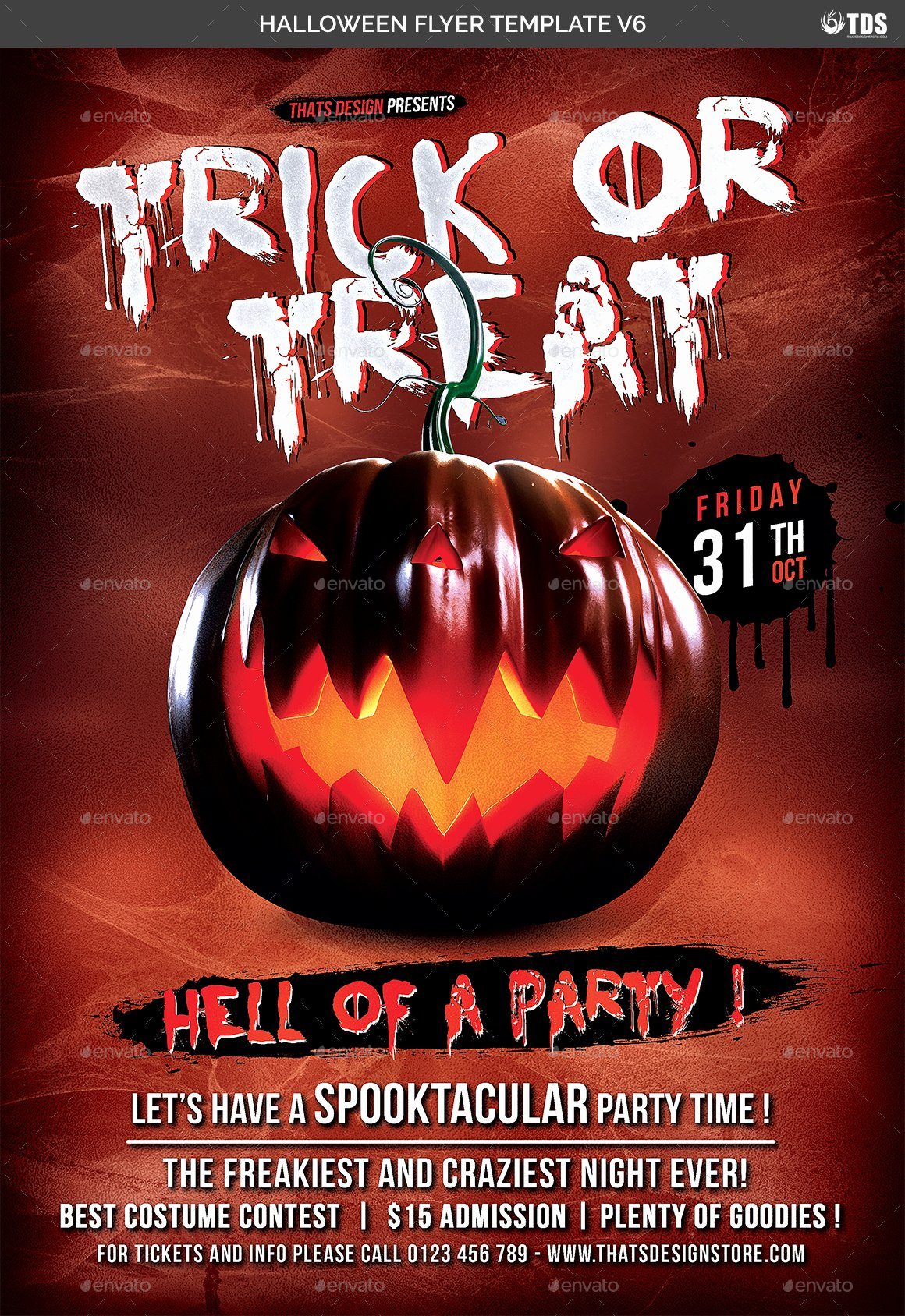 Halloween Flyer Template Free Fresh Halloween Flyer Template V6 by Lou606