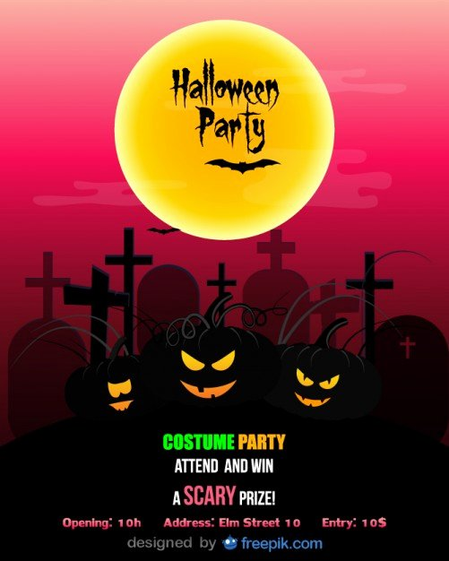 Halloween Flyer Template Free Lovely Halloween Party Flyer Template Costume Party Vector