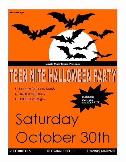 Halloween Flyer Template Free Lovely Halloween Party Flyer Template Microsoft Word Templates