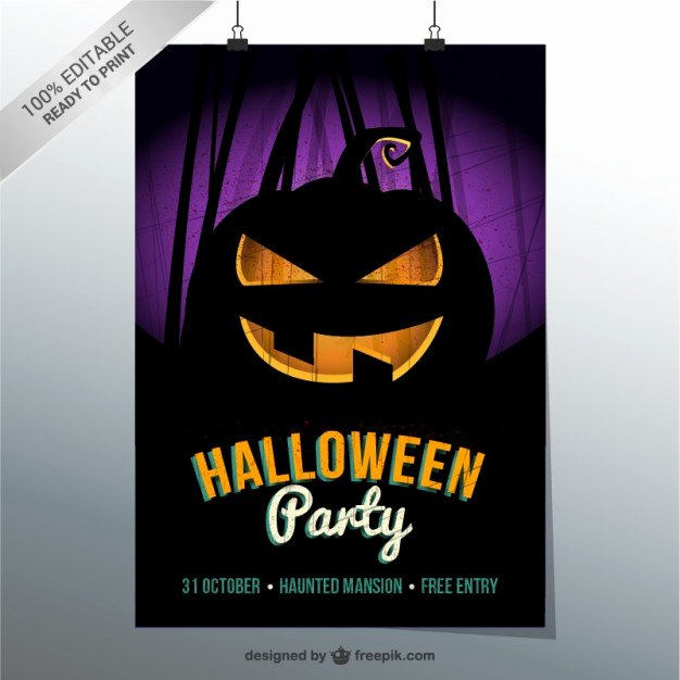 Halloween Flyer Template Free Lovely Halloween Party Flyer Template Vector