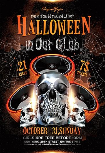 Halloween Flyer Template Free Lovely Halloween Party – Free Flyer Psd Template – by Elegantflyer