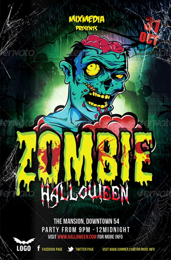 Halloween Flyer Template Free New 21 Zombie Flyer Templates Free Psd Eps Ai Indesign