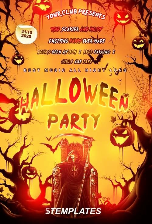 Halloween Flyer Template Free Unique 20 Free Halloween Flyers Psd Templates