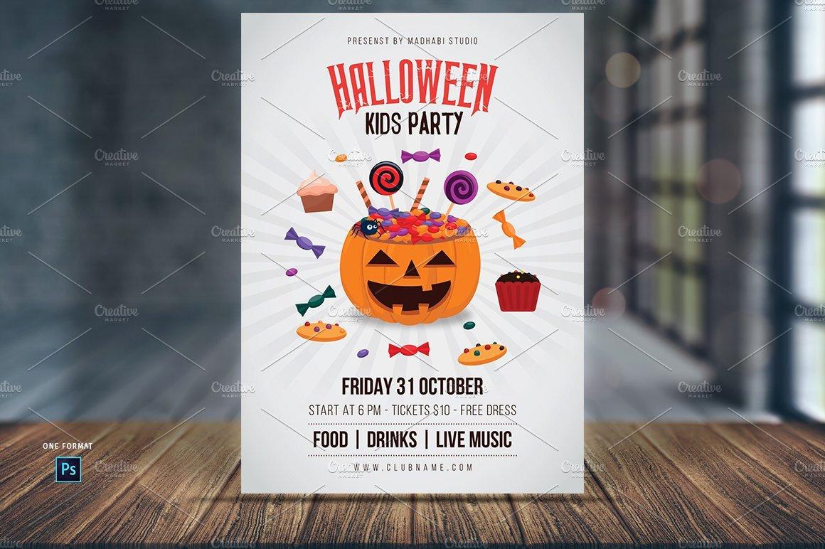 Halloween Flyer Template Free Unique Halloween Kids Party Flyer Template Flyer Templates