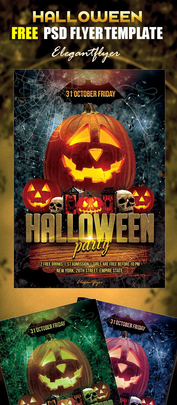 Halloween Party Flyer Template Awesome 70 Best Free Flyer Psd Templates 2017 Designmaz