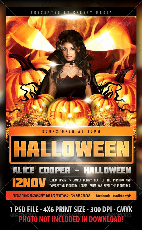 Halloween Party Flyer Template Beautiful Halloween Flyer by Fadeink