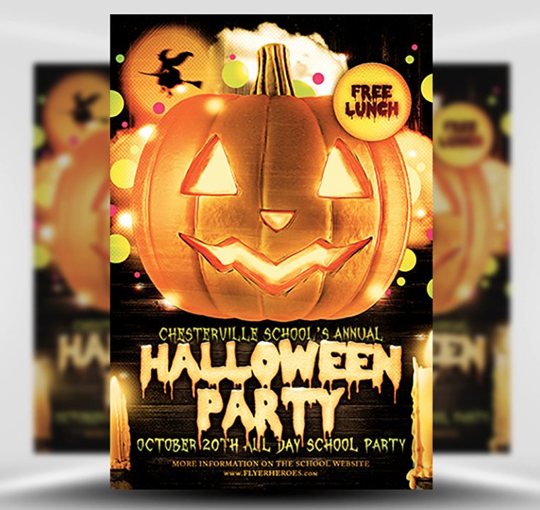 Halloween Party Flyer Template Beautiful Halloween Party Flyer Template 4 15 the Pumpkin