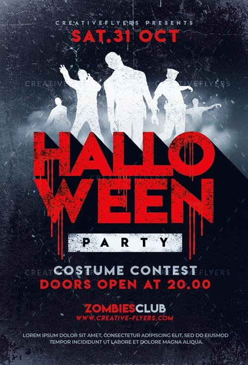 Halloween Party Flyer Template Beautiful Halloween Party Flyer Templates