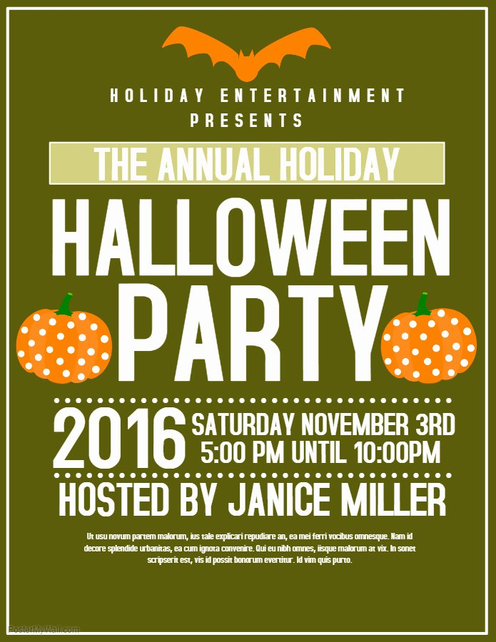 Halloween Party Flyer Template Best Of 6 Fantastic themes for Your Halloween Posters