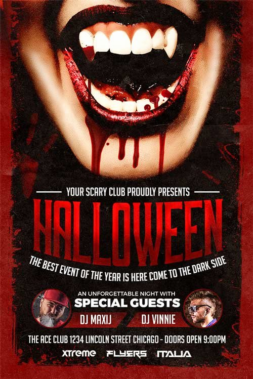 Halloween Party Flyer Template Best Of Halloween Party Flyer Template Download Xtremeflyers