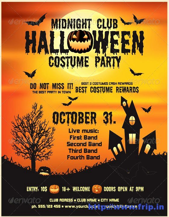 Halloween Party Flyer Template Elegant 7 Best Of Printable Halloween Flyer Templates