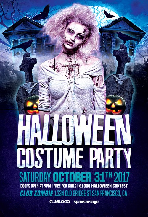 Halloween Party Flyer Template Elegant Halloween Costume Party Flyer Template Flyer for
