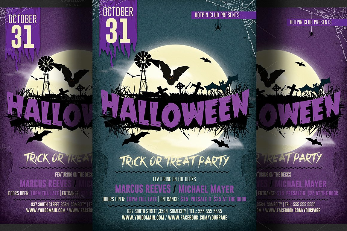 Halloween Party Flyer Template Elegant Halloween Party Flyer 4 Flyer Templates On Creative Market