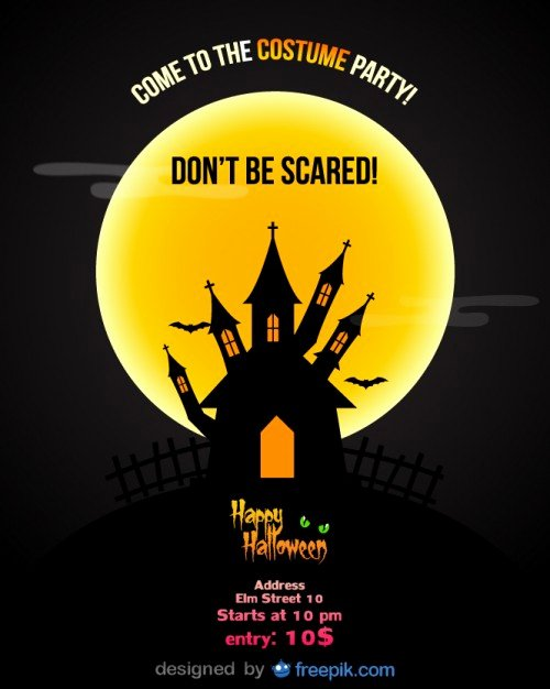 Halloween Party Flyer Template Elegant Halloween Party Flyer Template Vector