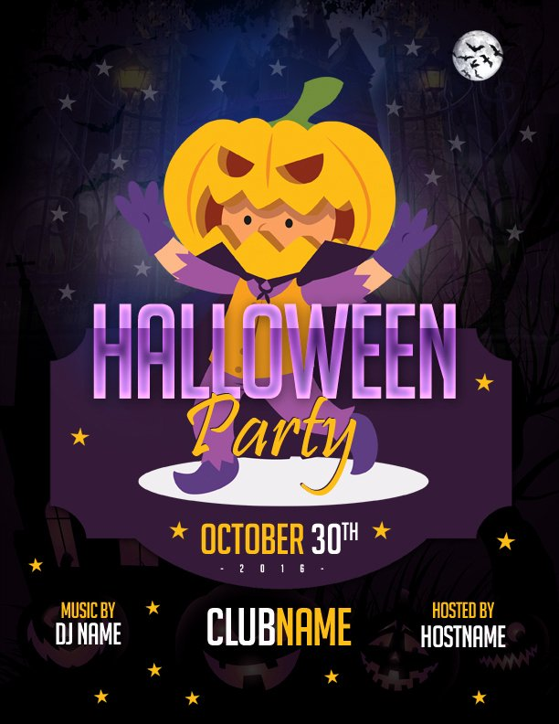 Halloween Party Flyer Template Elegant Ms Word Halloween Party Flyer Templates