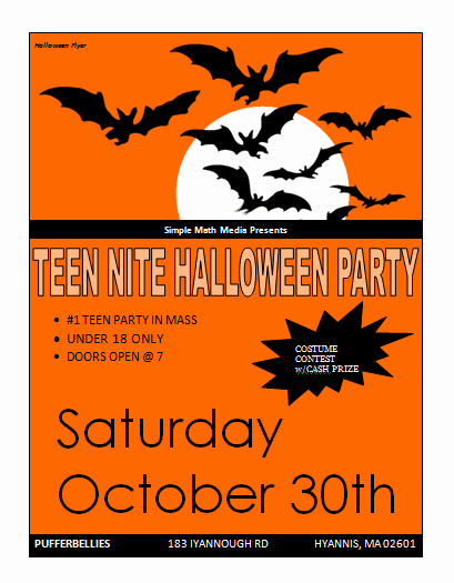 Halloween Party Flyer Template Fresh Sample Halloween Flyers Archives Microsoft Word Templates