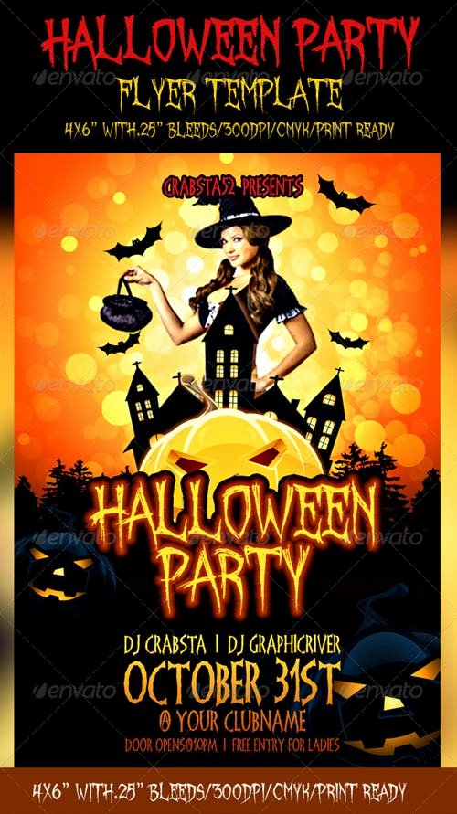 Halloween Party Flyer Template Inspirational Graphicriver Halloween Party Flyer Template