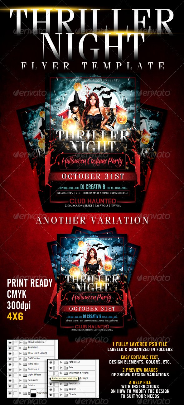Halloween Party Flyer Template Luxury 23 Wicked Halloween Psd Flyer Templates