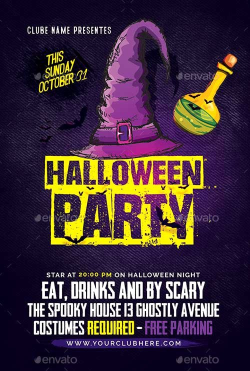 Halloween Party Flyer Template Luxury Best Of Halloween Flyer Templates Free and Premium Flyer