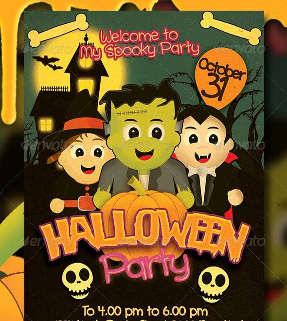Halloween Party Flyer Template New 45 Best Halloween Psd Party Flyer Templates 2016
