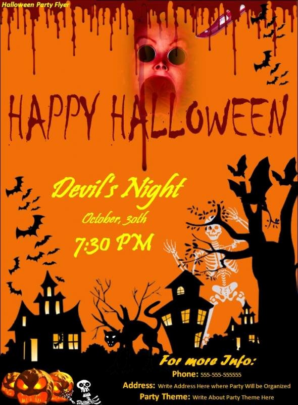 Halloween Party Flyer Template New Free Halloween Flyer Templates