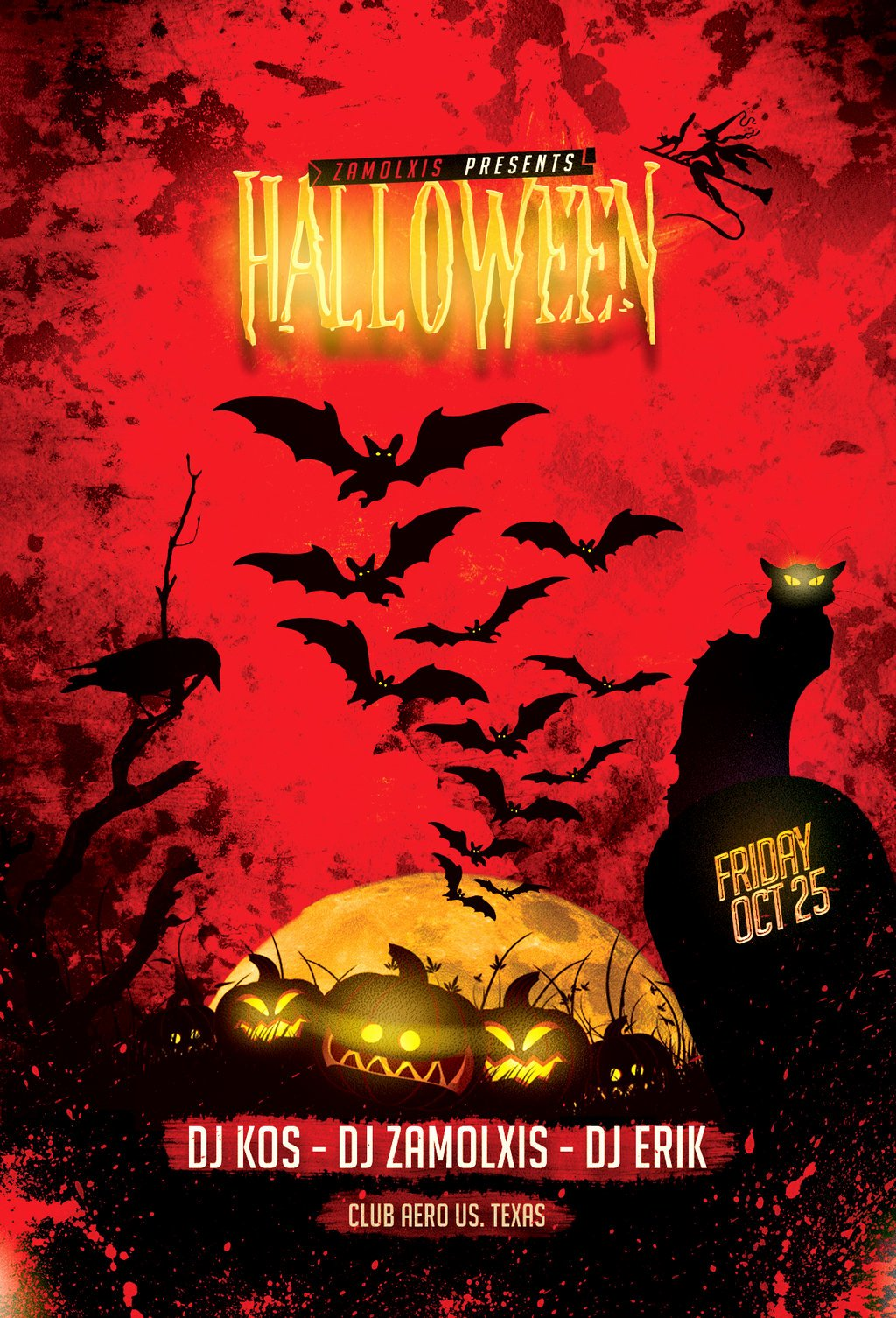 Halloween Party Flyer Template New Halloween Party Flyer Template Psd by Zamolxisart On