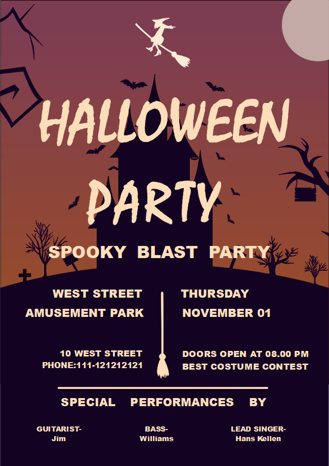 Halloween Party Flyer Template Unique Free Halloween Party Flyer Templates