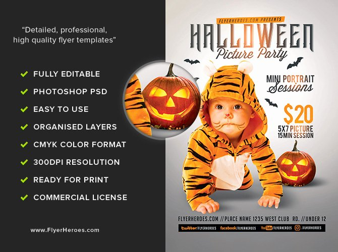 Halloween Party Flyer Template Unique Kids Halloween Op Flyer Template Flyerheroes