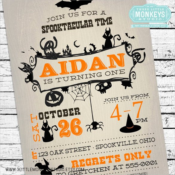 Halloween Party Invitations Template Awesome 30 Halloween Birthday Invitation Templates – Free Sample