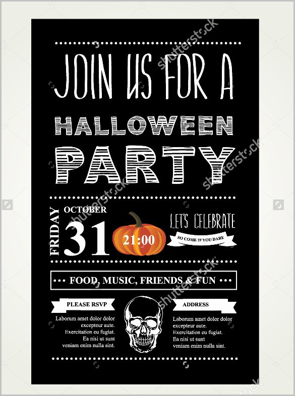 Halloween Party Invitations Template Awesome 35 Halloween Invitation Free Psd Vector Eps Ai