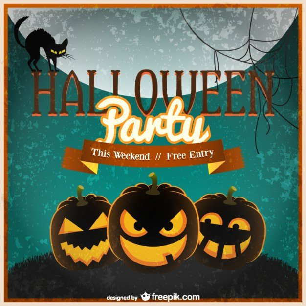Halloween Party Invitations Template Awesome Halloween Invitation Template Vector Vector
