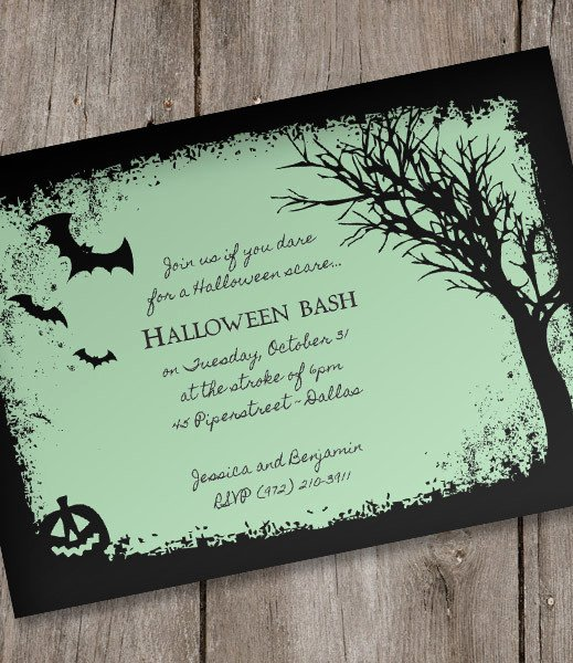 Halloween Party Invitations Template Elegant Halloween Invitation Template – Spooky Woods – Download