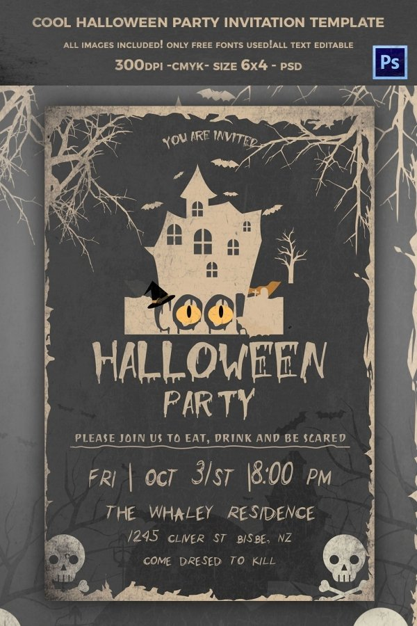 Halloween Party Invitations Template Fresh 35 Halloween Invitation Free Psd Vector Eps Ai