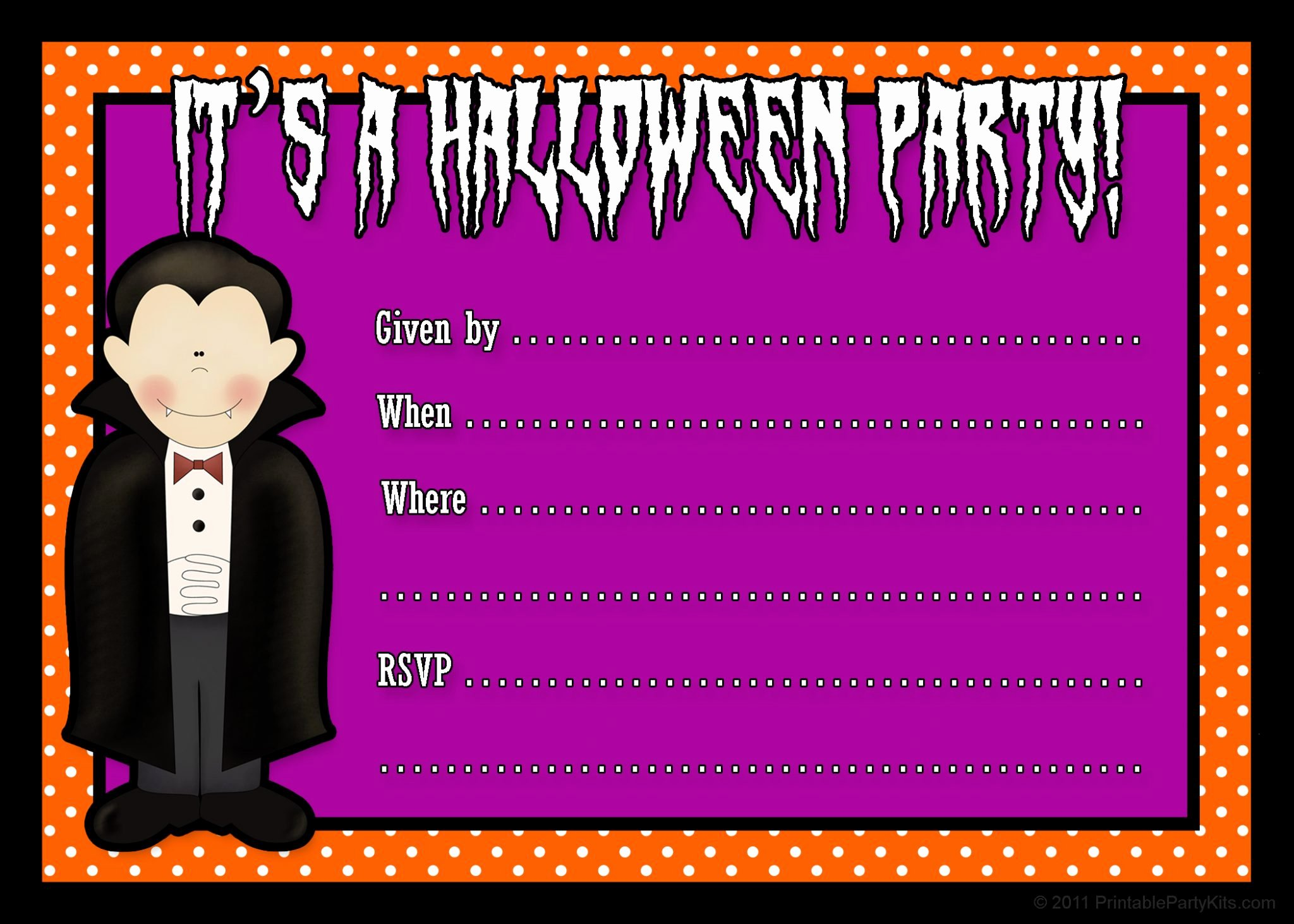 Halloween Party Invitations Template Fresh Free Printable Halloween Party Invites