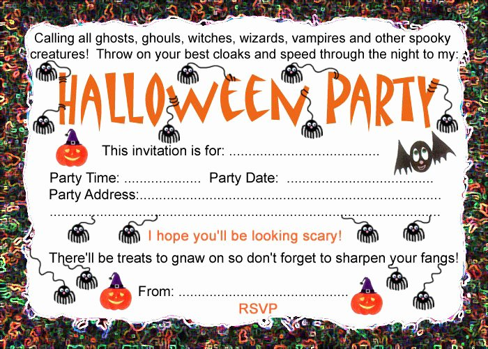 Halloween Party Invitations Template Inspirational Halloween Party Invitation