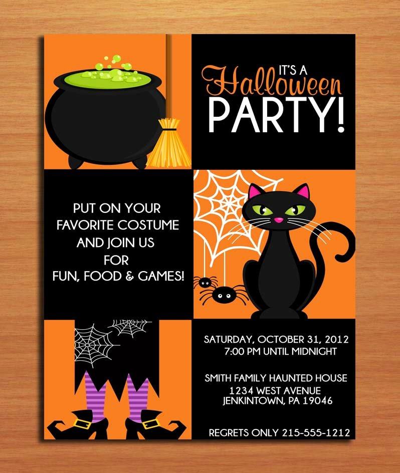 Halloween Party Invitations Template Lovely Halloween Invitation Template Editable – Festival Collections