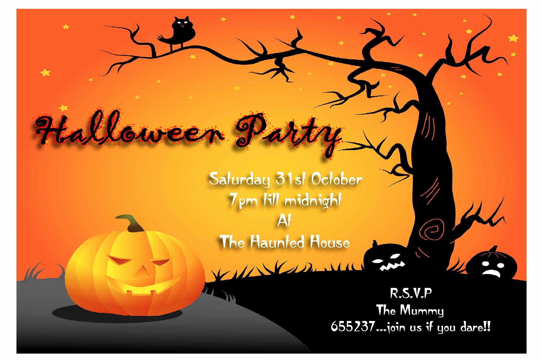 Halloween Party Invitations Template Lovely Halloween Party Invitation Wording