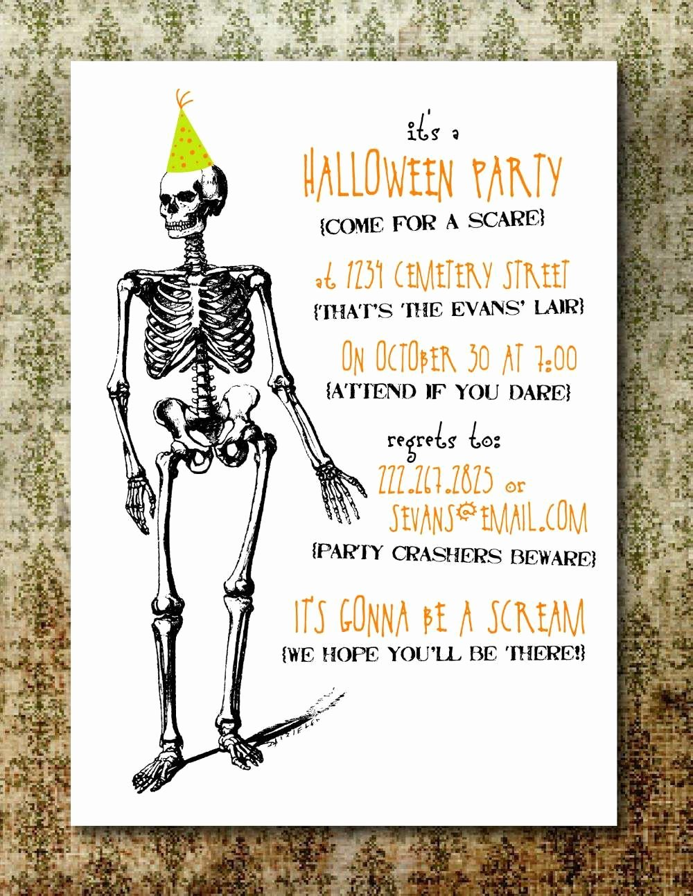 Halloween Party Invitations Template Luxury Free Printable Halloween Invitation Templates