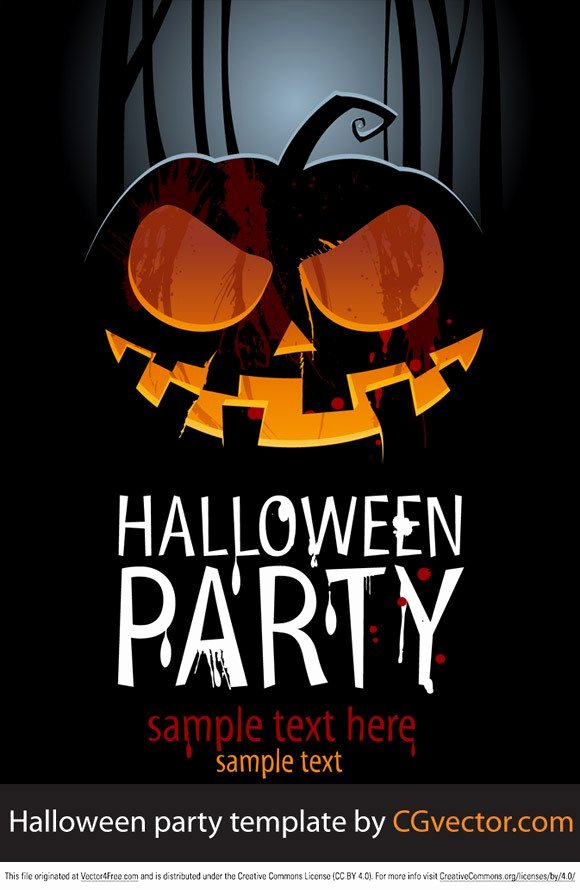 Halloween Party Invitations Template New Free Halloween Party Template Psd Files Vectors