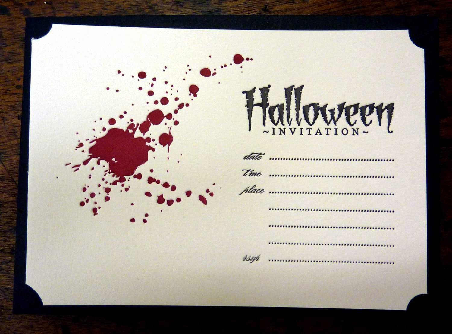 Halloween Party Invitations Template Unique Halloween Invitation Ideas Template