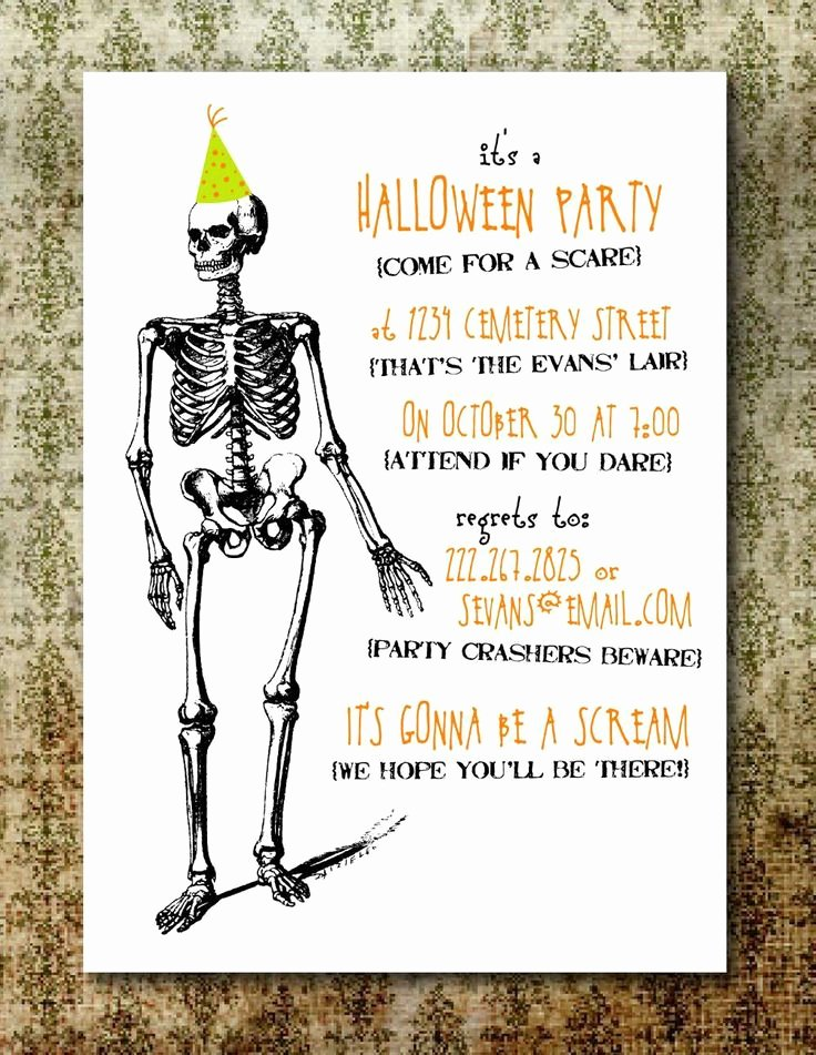 Halloween Party Invite Template Awesome Free Printable Halloween Invitations for Adults