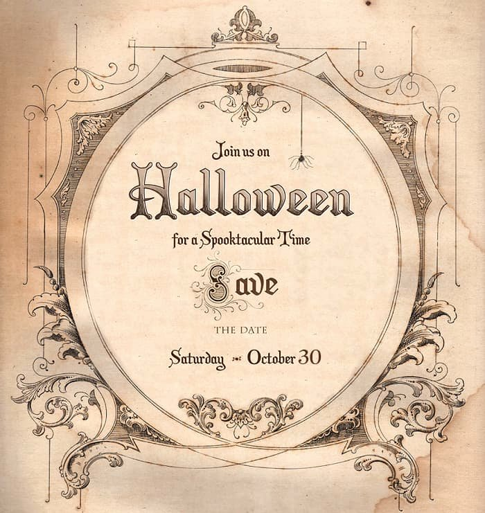 Halloween Party Invite Template Awesome Save the Date for Halloween Free Download Living Locurto