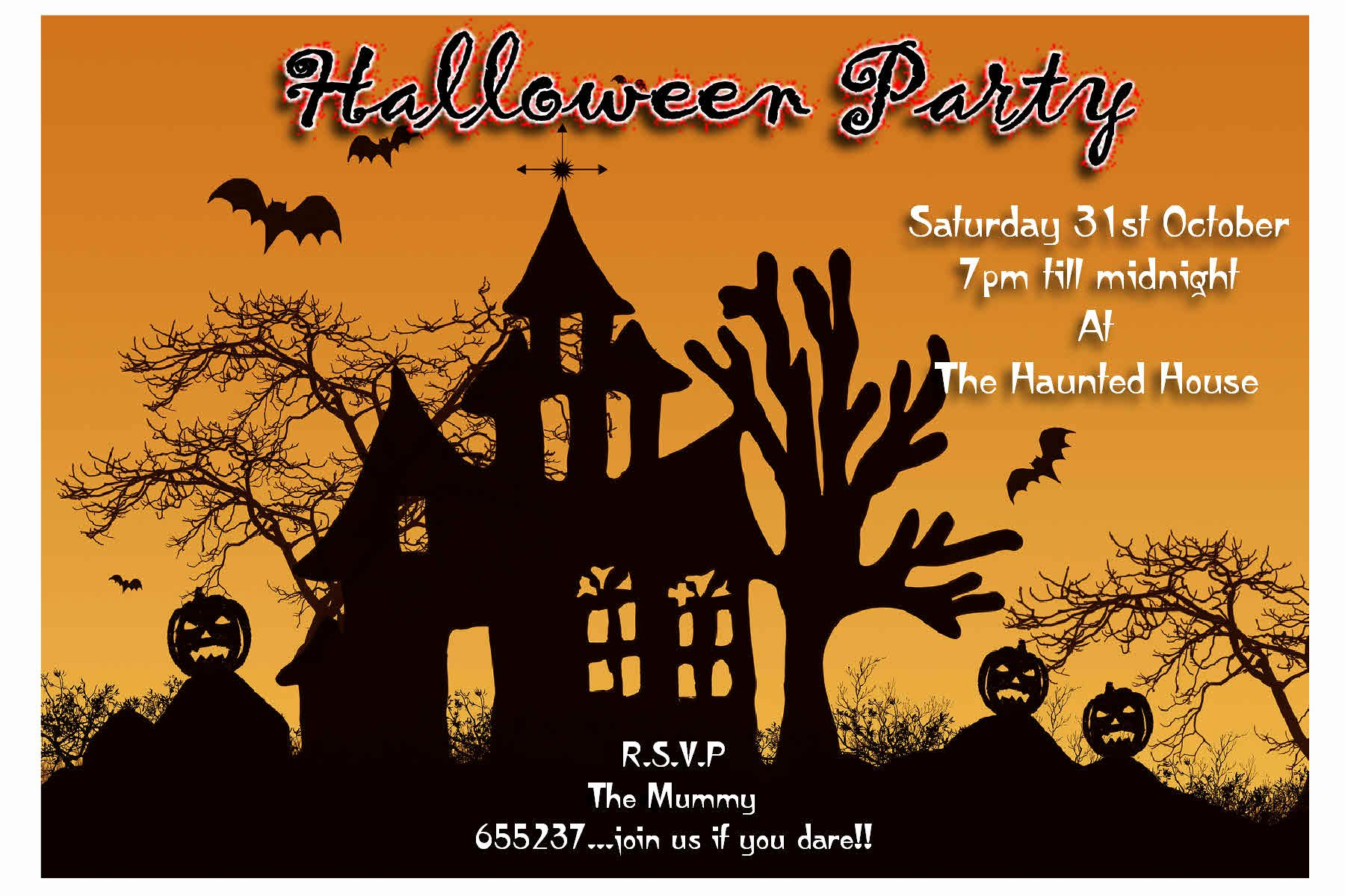 Halloween Party Invite Template Beautiful Halloween 2017 Invitation – Festival Collections