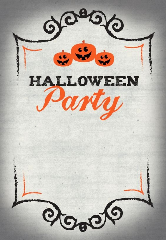 Halloween Party Invite Template Best Of Halloween Free Printable and Parties On Pinterest