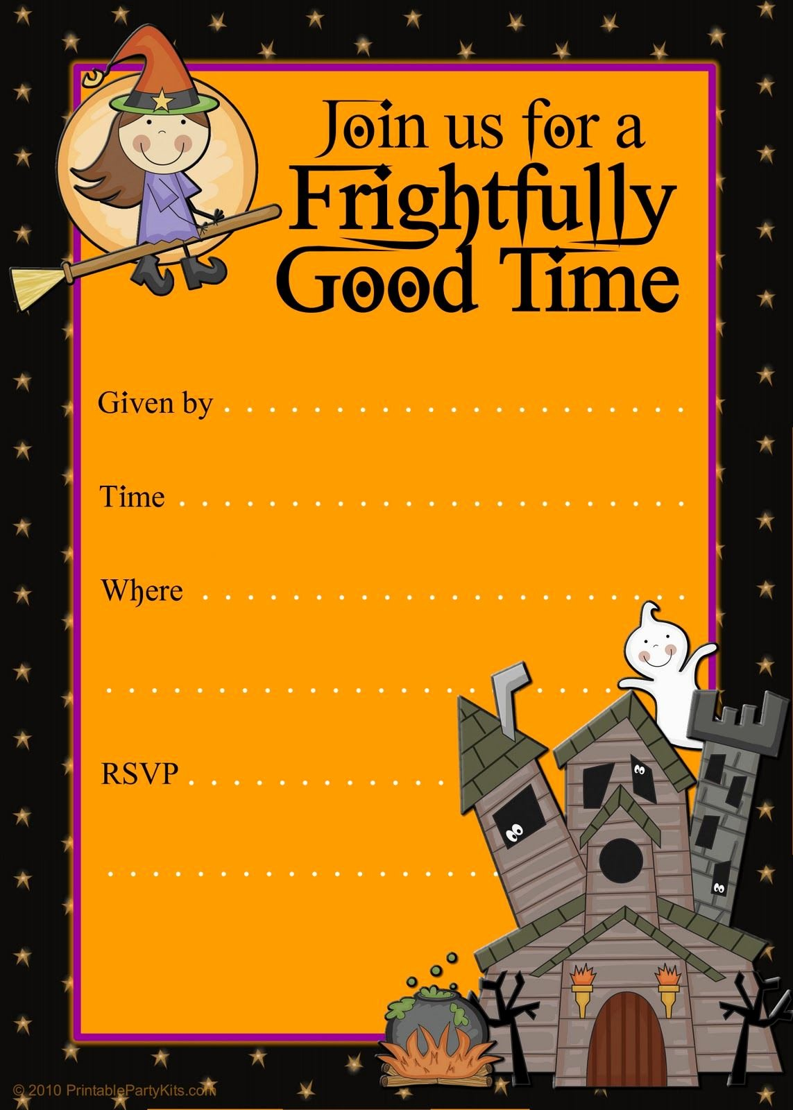 Halloween Party Invite Template Elegant Free Halloween Flyer Invitations Printable