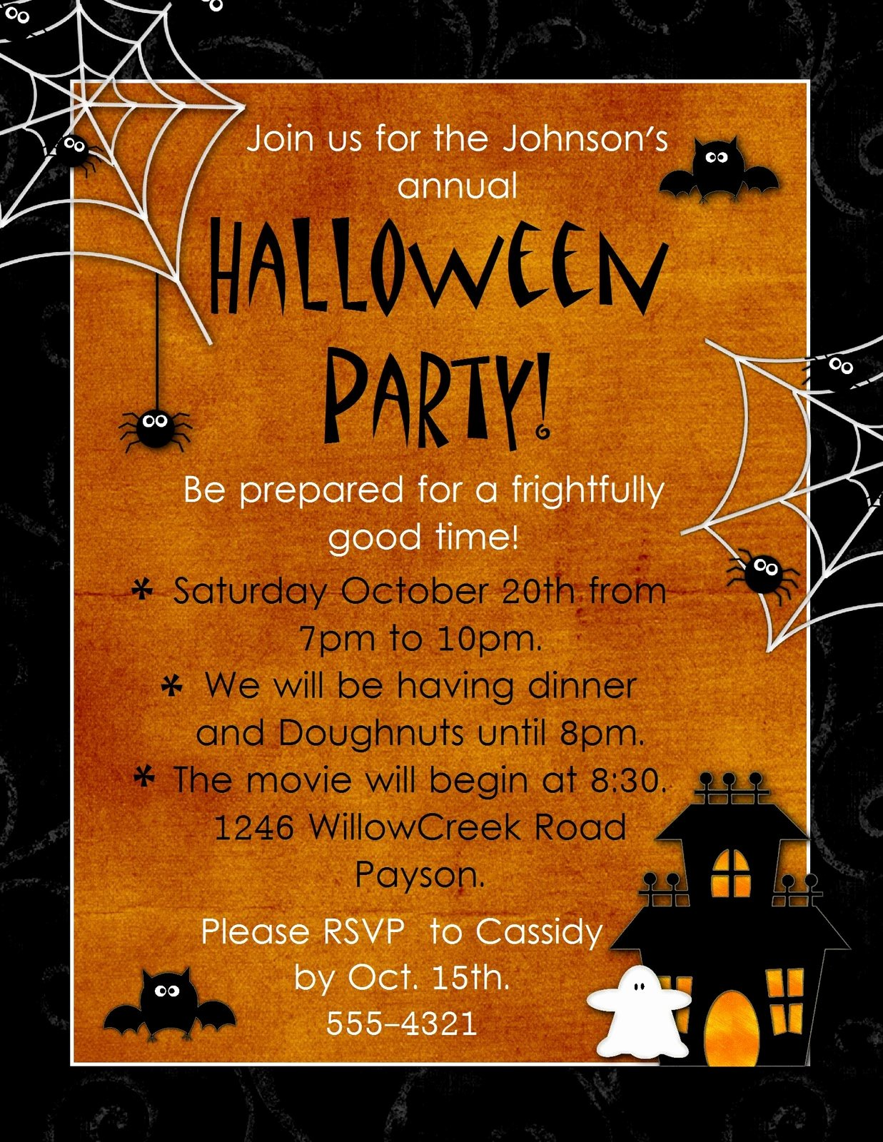 "Halloween Party Invite Template Inspirational Geneawebinars ""preserving Those Fun Autumn Memories"""