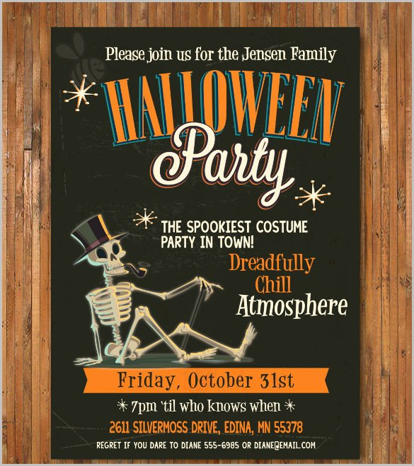 Halloween Party Invite Template Luxury 35 Halloween Invitation Free Psd Vector Eps Ai